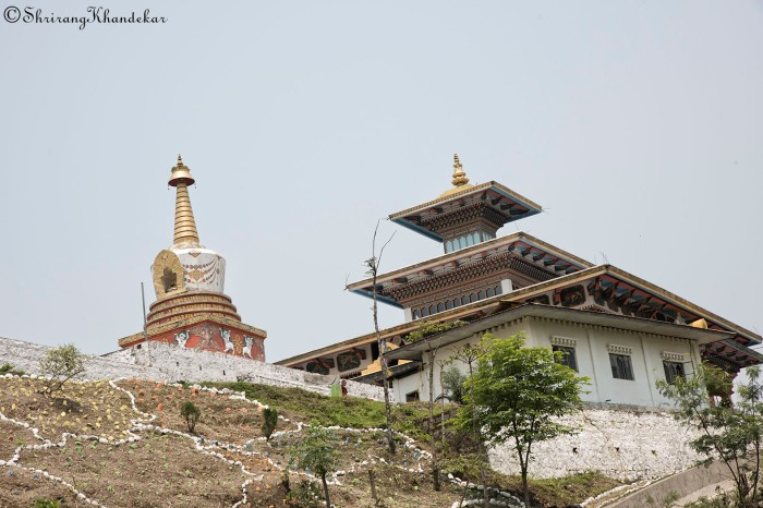 Chorten along the highway